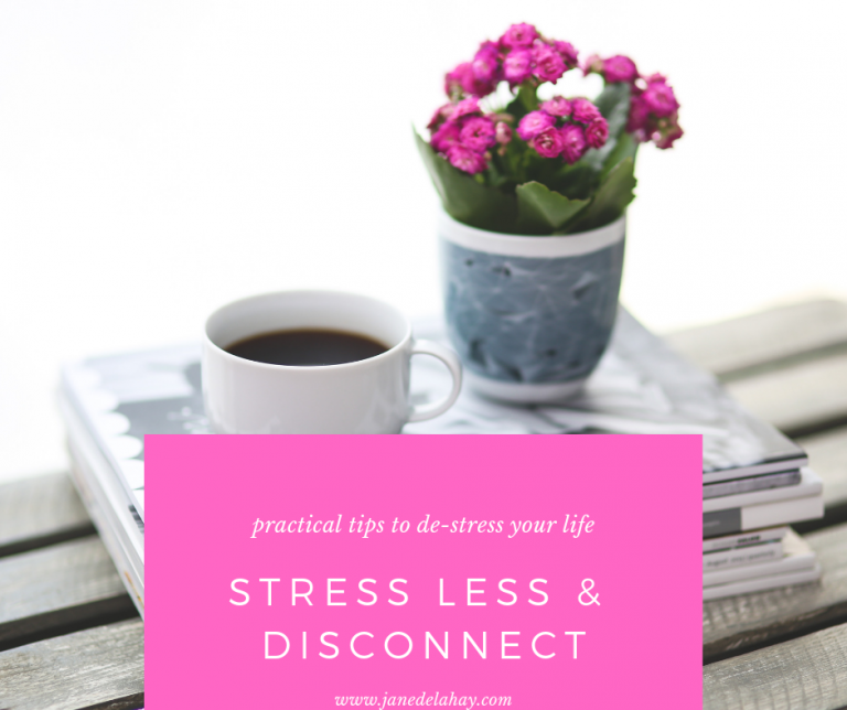 Stress less (and disconnect)