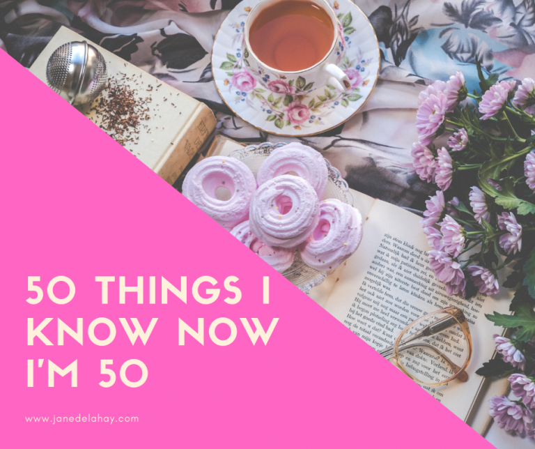 50 things I know now I'm 50